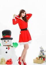 Sexy Weihnachtsfrau Kostüm Miss Weihnachtskostüm Damen Weihnachtskleid +Gürtel