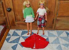 2 Vintage Barbie Dolls SKIPPER & Tagged Outfits TNT Malibu Clothes & Shoes JAPAN