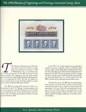 #2875 $2 Bureau of Engraving & Printing - Souvenir Sheet of 4 - on PCS Info Page