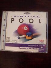"for windows 95 ""Virtual Pool"" - the ultimate 3D pool simulator"