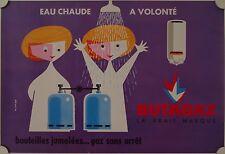Affiche BUTAGAZ Eau Chaude à Volonté Ann.'50-'60 Litho WOLTT