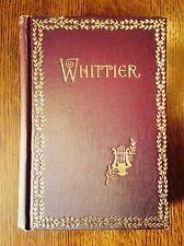 """Poems of John Greenleaf Whittier""-Hardcover- 1847- Poetry"