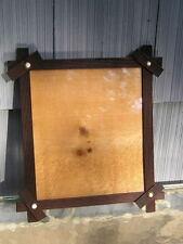 Old Adirondack Black Forest Porcelain Dot Corner Picture Frame 9 1/2 x 11 +glass