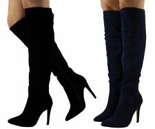Stiletto Suede Knee High Boots for Women