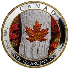 2016 Canada Maple Leaf Forever 1 Kilo Silver Colorized Proof $250 SKU41559
