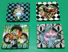 DISNEY PARKS ALICE IN WONDERLAND MAD HATTER QUEEN OF HEARTS CERAMIC PLATES