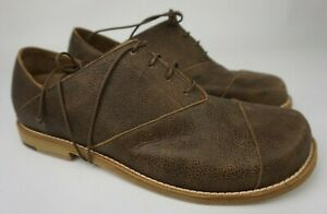 Peter Non Men's Brown Sinatra Leather Oxford Lace-up Shoes Size 8 US