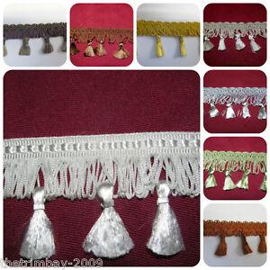 Premium Quality Tassel Fringe & Decorative Braid Furnishing Trimming