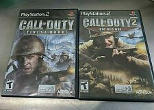 Call of Duty 2: Big Red One (Sony PlayStation 2, 2005) complete with book / art