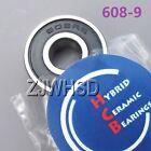 608-9 2RS Si3N4 Ceramic Ball Bearing Rubber Sealed Skateboard Skate 9 x 22 x 7mm