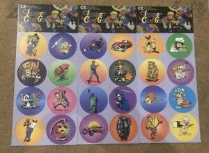 POGS SLAMMER CARD GAME 96 Pogs Cartoon Caps Full Set Vintage