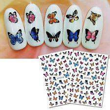 Nail Art Water Decals Stickers Spring Summer Butterflies Butterfly (XF3318)