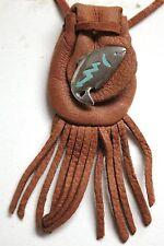 """Medicine bag  - Fish (mahogany tuck) """"long life and good fortune"""""""