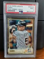 2015 Topps Update Ichiro Gold Baseball Card #US396 PSA 9 Mint POP 2