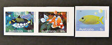 Australian Decimal Stamps: 2010 Fishes of the Reef-Part 1 - Set of 3 P&S MNH