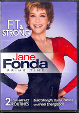 JANE FONDA FIT & STRONG build strength + bonus balance exercises NEW SEALED DVD
