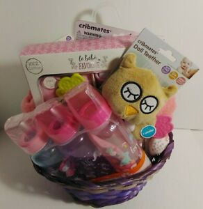 Baby Girls O-6mon Gift Basket Filled With The Necessities Outfit Toys + More New