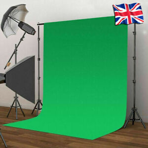 HQ Green Screen, 2 x 2m Backdrop Stand & Professional Lamp - Photography Kit