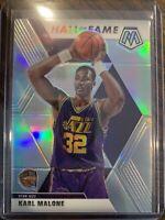 2019-20 Mosaic Karl Malone Hall of Fame Silver Prizm SP Utah Jazz
