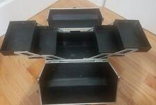 Silver Makeup Storage Box Train Make Up Cosmetic Luggage Organizer Beauty Case