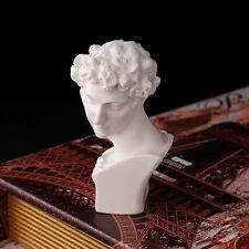 1/12 Puppenhaus Miniatur Resin Statue David Skulptur Weiss Dekor Gabe DIY  Kit