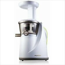 Hurom Hu-100 Slow Rotational Speed Juicer White Low-Noise Vibration Motor NEW