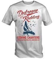 Dufresne & Redding Fishing Charters T-Shirt Redemption Shawshank Retro Movie