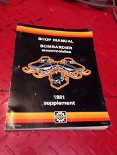 1981 Bombardier Snowmobile Shop Manual