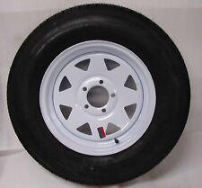 Wheel Rim w/Tire Bias 15in Spoke 5x4.5 Bolt Utility Trailer Boat ST205/75D15