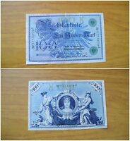 BANCONOTA GERMANIA REICHSBANKNOTE 100 MARK 1908 BERLIN SUBALPINA
