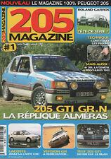 205 MAGAZINE 1 PEUGEOT 205 GTI 1.6 115ch 205 GR 205 LACOSTE CABRIO ROLAND GARROS