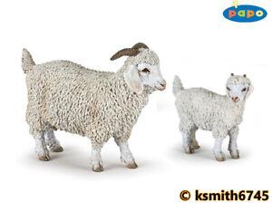 Papo ANGORA GOAT & KID solid plastic toy farm pet animal * NEW *💥