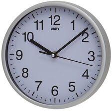 """Reloj de Pared de Barrido Silencioso por unidad Radcliffe reloj en plata y blanco 8"""" 20CM"""