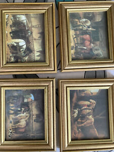 Set Of Four Horse Pictures In Frames
