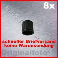 8 Stück Ventilkappen schwarz Reifenventil Kappen - tire valve cap black