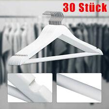 30 Stück Kleiderbügel mit rutschfestem Hosensteg und Kleiderhacken Blusenbügel