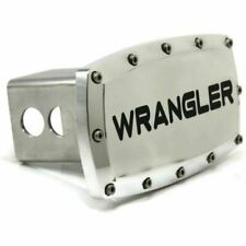 """Jeep Wrangler 2"""" Tow Hitch Cover Plug Engraved Billet Aluminum"""