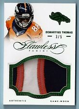 Demaryius Thomas 2014 PANINI IMPECABLE 3 COLOR JUMBO con parche / 5 BRONCOS
