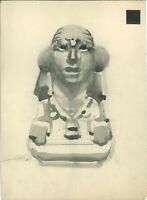 709-4) disegno originale pubblicitario eugenio colmo arte azteca