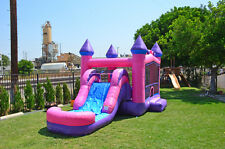 Commercial Grade 13' x 24' Princess Wet Dry Combo Bounce House Water slide