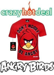 Hommes`S Tee-Shirt Angry Bird - Don ` T Worry Be Angry - GR.S - Neuf/Emballage