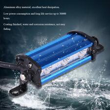 Motorbike Auto Car LED Light Spot Beam Work DRL Bar Lamp Aluminum 12-16V 9W Blue