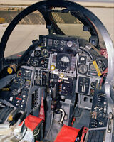 F-14 TOMCAT COCKPIT 8x10 SILVER HALIDE PHOTO PRINT