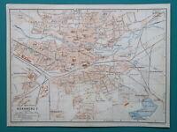 GERMANY Metropolitan Nuremberg City Town Plan - 1910 MAP Baedeker