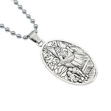 Charm Pendant Vicking Jewelry Gifts Fashion Men's Necklace Archangel St.Michael