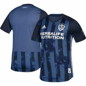 Adidas LA Galaxy Authentic Away Men Med Soccer Jersey Camo Navy DP4838 $120 NEW