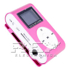 Reproductor MP3 CLIP con Pantalla LCD Color Rosa d47