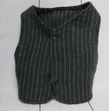 barbie clothes-Ken Doll Black Pin-striped w/ white fashion VEST for 3 piece suit