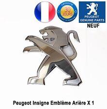 Peugeot 308 logo lion badge insigne coffre malle hayon emblème Chrome Neuf