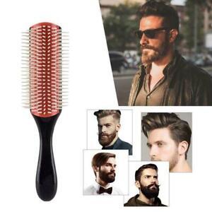 Denman Cushion Brush Bristles 9-Row Detangle Distribute Barber Hair Curly Z1M2